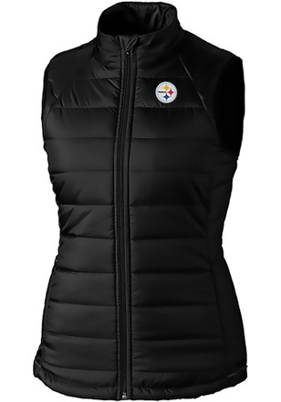 Cutter and Buck Pittsburgh Steelers Womens Black Post Alley Vest