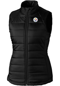 Pittsburgh Steelers Womens Cutter and Buck Post Alley Vest - Black