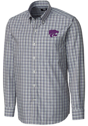 Cutter and Buck K-State Wildcats Mens Purple Gilman Dress Shirt