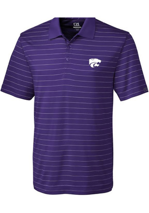 Cutter and Buck K-State Wildcats Mens Purple Franklin Short Sleeve Polo Shirt