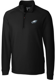 Philadelphia Eagles Cutter and Buck Jackson 1/4 Zip Pullover - Black