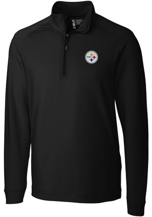 Cutter and Buck Pittsburgh Steelers Mens Black Jackson 1/4 Zip Pullover