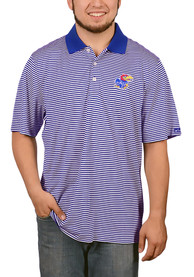 Kansas Jayhawks Cutter and Buck Trevor Stripe Polo Shirt - Blue