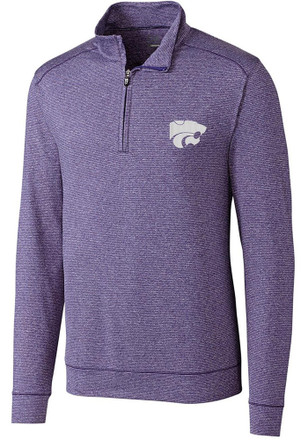 Cutter and Buck K-State Wildcats Mens Purple Shoreline 1/4 Zip Pullover