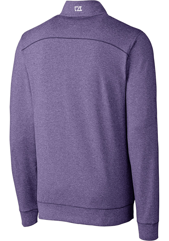 Cutter and Buck K-State Wildcats Mens Purple Shoreline Long Sleeve 1/4 Zip Pullover - Image 2