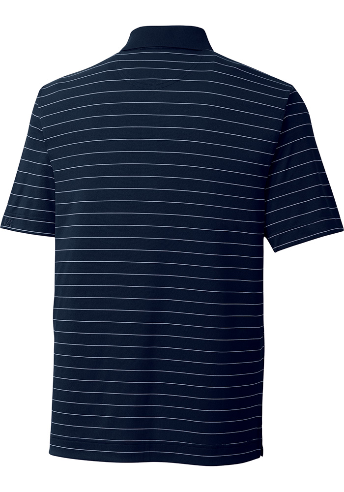 Cutter and Buck Michigan Wolverines Mens Navy Blue Franklin Short Sleeve Polo - Image 2