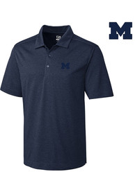 Michigan Wolverines Cutter and Buck Chelan Polo Shirt - Navy Blue