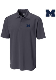 Michigan Wolverines Cutter and Buck Genre Polo Shirt - Black