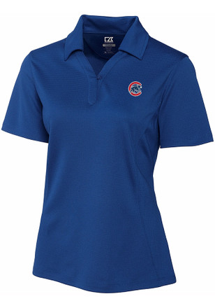Cutter and Buck Chicago Cubs Womens Blue DryTec Genre Polo