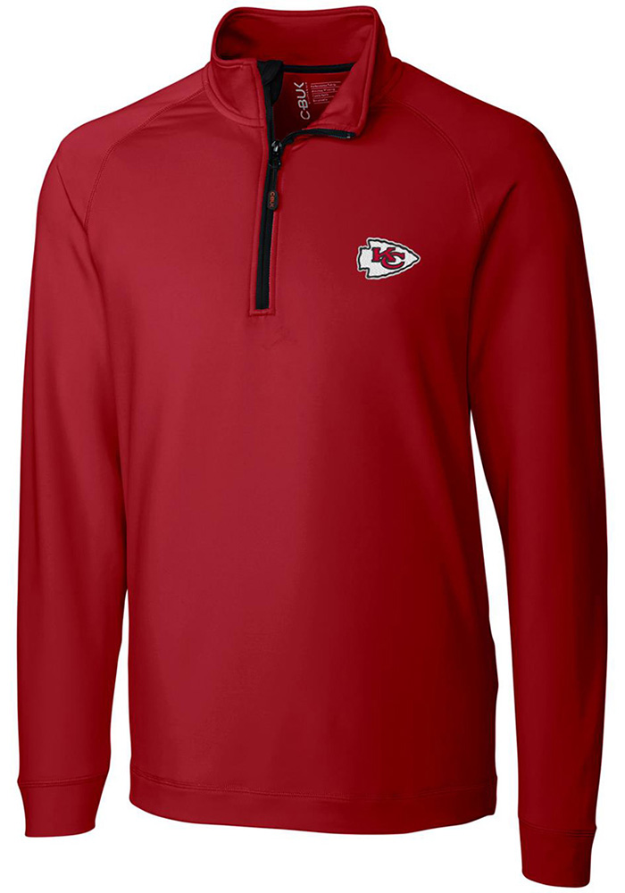 Cutter and Buck Kansas City Chiefs Mens Red Jackson Long Sleeve 1/4 Zip Pullover - Image 1