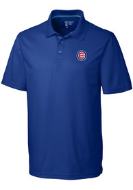 Chicago Cubs Cutter and Buck Fairwood Polo Shirt - Blue