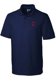 Cleveland Indians Cutter and Buck Fairwood Polo Shirt - Navy Blue