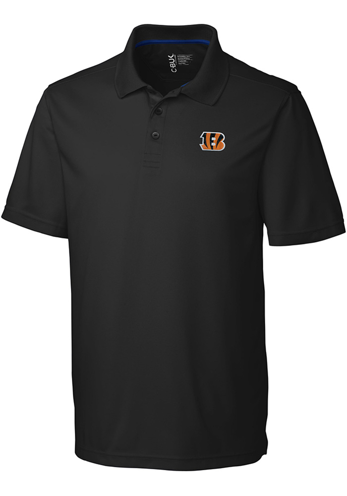 Cutter and Buck Cincinnati Bengals Mens Black Fairwood Short Sleeve Polo - Image 1