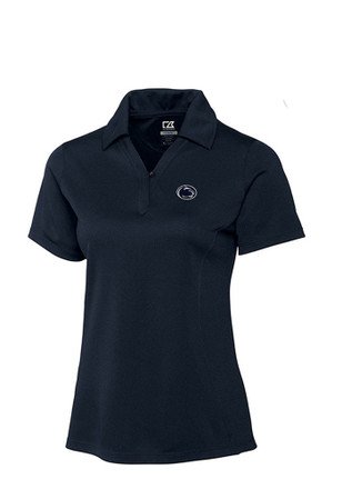 Cutter and Buck Penn State Nittany Lions Womens Navy Blue Genre Polo