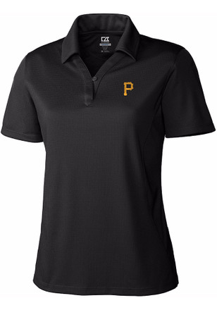 Cutter and Buck Pittsburgh Pirates Womens Black DryTec Genre Polo