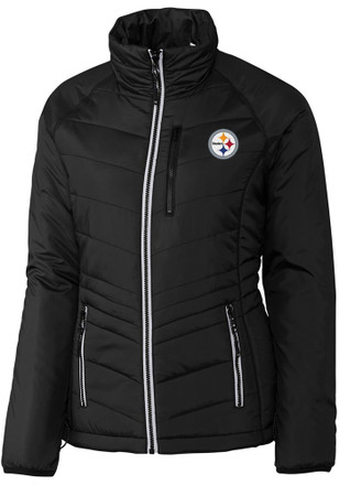 Cutter and Buck Pittsburgh Steelers Womens CB WeatherTec Barlow Pass Black Heavy Weight Jacket