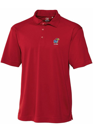 Cutter and Buck Kansas Jayhawks Mens Cardinal Genre Short Sleeve Polo Shirt