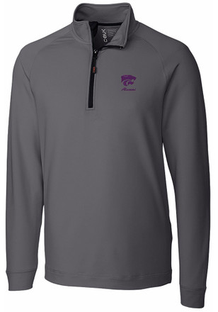Cutter and Buck K-State Wildcats Mens Grey Jackson 1/4 Zip Pullover