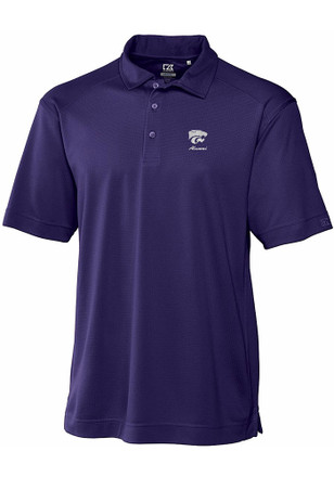 Cutter and Buck K-State Wildcats Mens Purple Genre Short Sleeve Polo Shirt