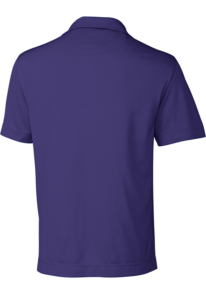 Cutter and Buck K-State Wildcats Mens Purple Genre Short Sleeve Polo - Image 2