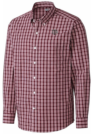 Cutter and Buck Texas A&M Aggies Mens Maroon Discovery Dress Shirt