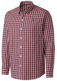 Texas A&M Aggies Cutter and Buck Discovery Dress Shirt - Maroon