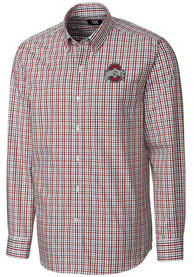 Ohio State Buckeyes Cutter and Buck Gilman Dress Shirt - Red