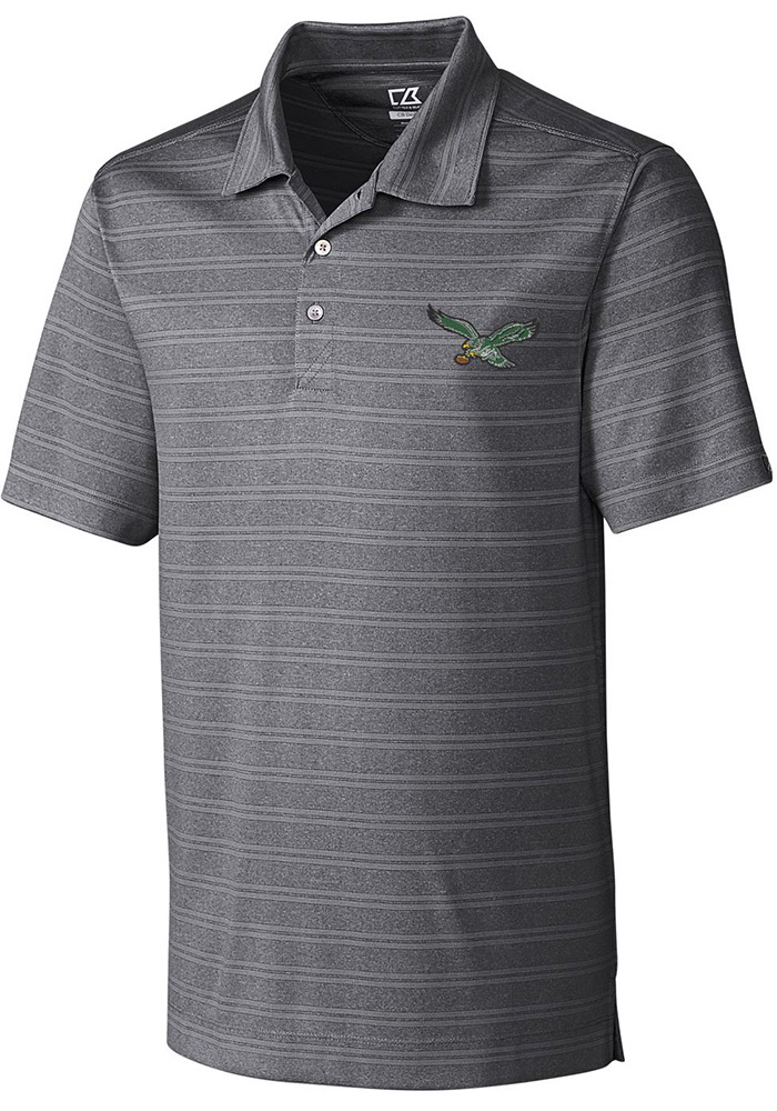 Cutter and Buck Philadelphia Eagles Mens Grey Interbay Short Sleeve Polo - Image 1