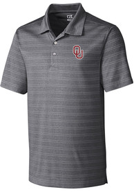 Cutter and Buck Oklahoma Sooners Charcoal Melange Short Sleeve Polo Shirt