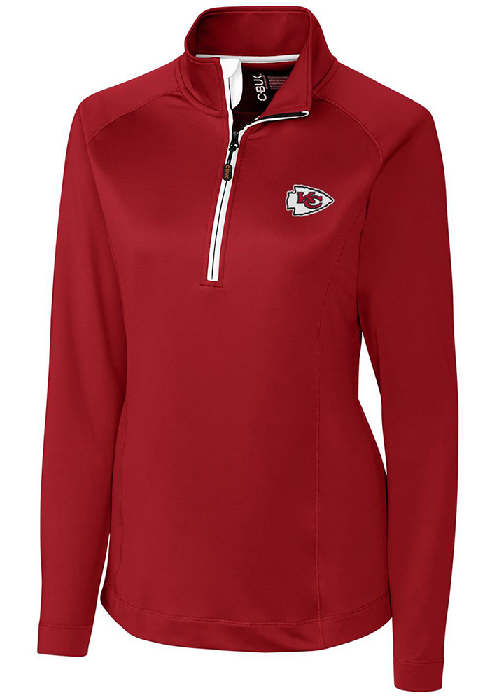 Cutter and Buck KC Chiefs Womens Red Jackson 1/4 Zip Pullover - Image 1