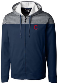 Cleveland Indians Cutter and Buck Pop Fly Zip - Navy Blue