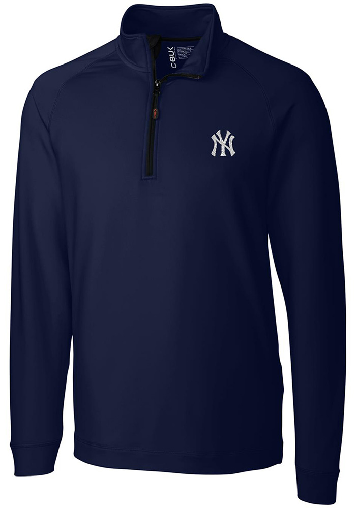 New York Yankees Cutter and Buck Jackson 1/4 Zip Pullover - Navy Blue
