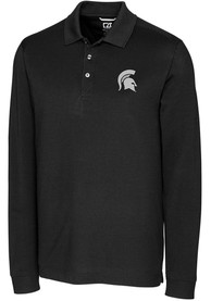 Michigan State Spartans Cutter and Buck Advantage Polo Shirt - Black