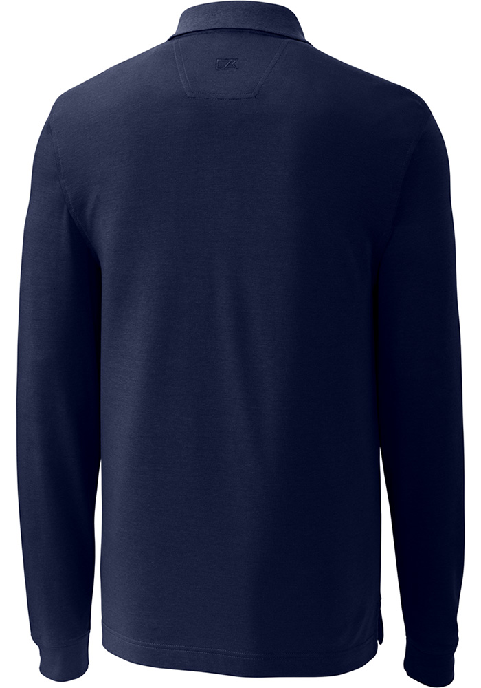 Cutter and Buck Xavier Musketeers Mens Navy Blue Advantage Long Sleeve Polo Shirt - 13490779