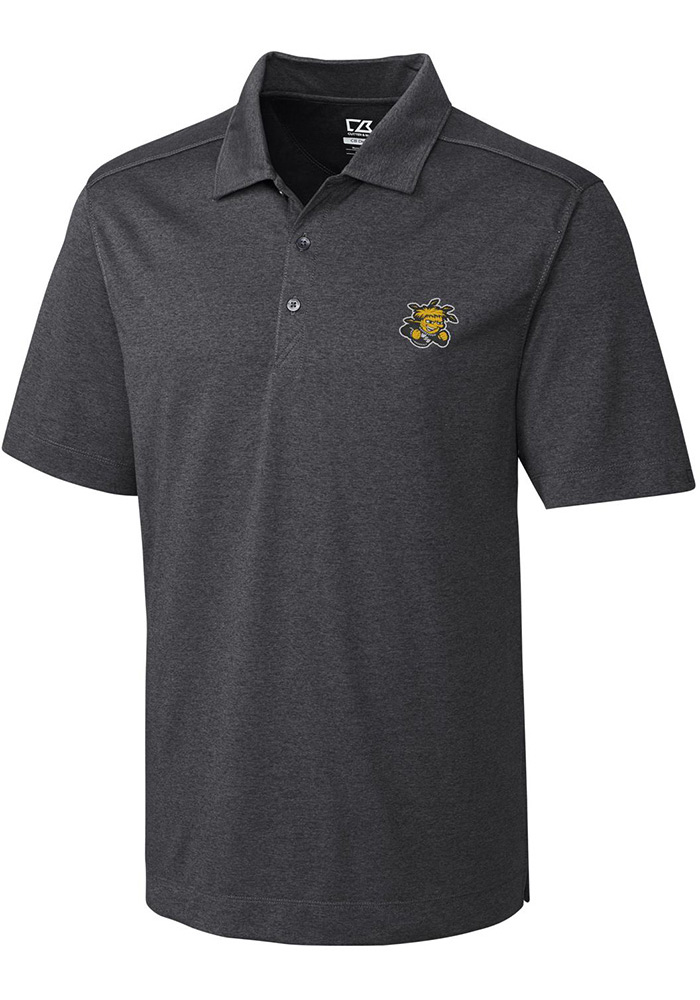Cutter and Buck Wichita State Shockers Mens Grey Chelan Short Sleeve Polo - Image 1