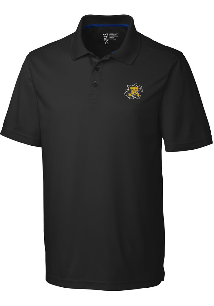 Cutter and Buck Wichita State Shockers Mens Black Fairwood Short Sleeve Polo - Image 1