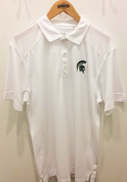 Cutter and Buck Michigan State Spartans Mens White Genre Short Sleeve Polo