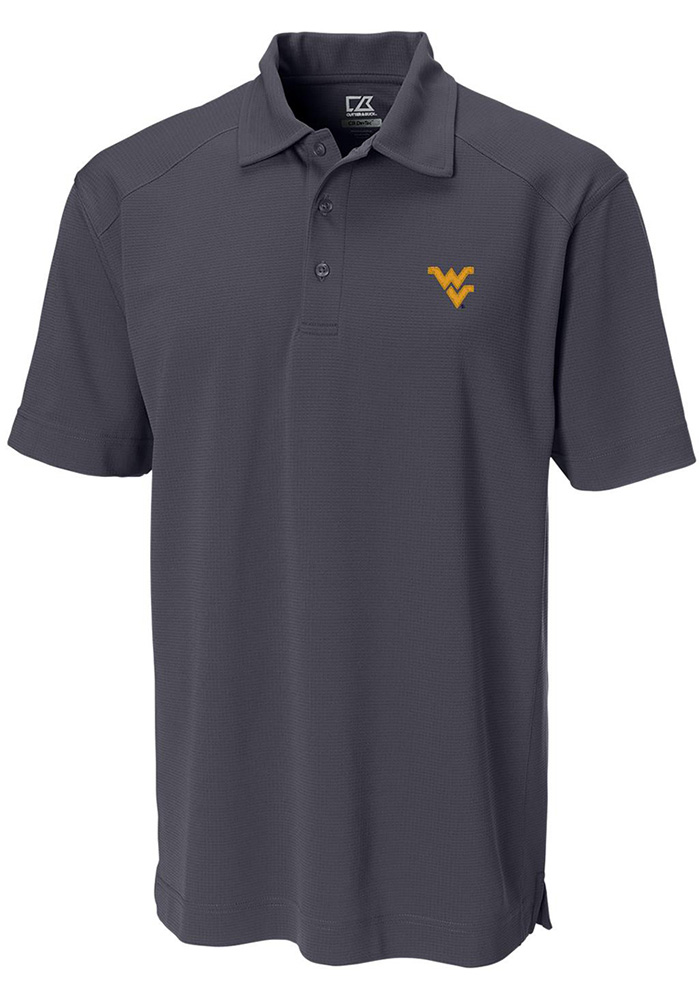 Cutter and Buck West Virginia Mountaineers Mens Black Genre Short Sleeve Polo - Image 1