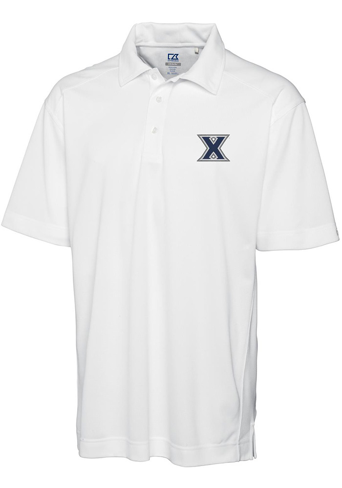 Cutter and Buck Xavier Musketeers Mens White Genre Short Sleeve Polo - Image 1