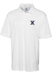 Cutter and Buck Xavier Musketeers Mens White Genre Short Sleeve Polo