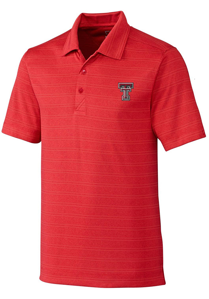 Cutter and Buck Texas Tech Red Raiders Mens Red Interbay Short Sleeve Polo - Image 1