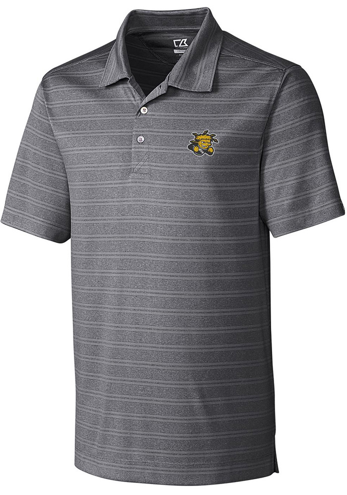 Cutter and Buck Wichita State Shockers Mens Grey Interbay Short Sleeve Polo - Image 1