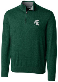 Michigan State Spartans Cutter and Buck Lakemont 1/4 Zip Pullover - Green