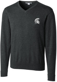 Michigan State Spartans Cutter and Buck Lakemont Sweater - Charcoal