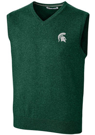 Michigan State Spartans Cutter and Buck Lakemont Vest Sweater Vest - Green