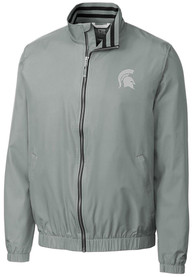 Michigan State Spartans Cutter and Buck Nine Iron Light Weight Jacket - Grey