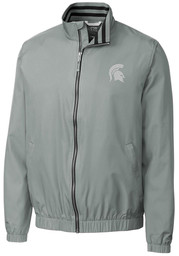 Cutter and Buck Michigan State Spartans Mens Grey Nine Iron Light Weight Jacket