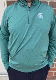 Michigan State Spartans Cutter and Buck Shoreline 1/4 Zip Pullover - Green