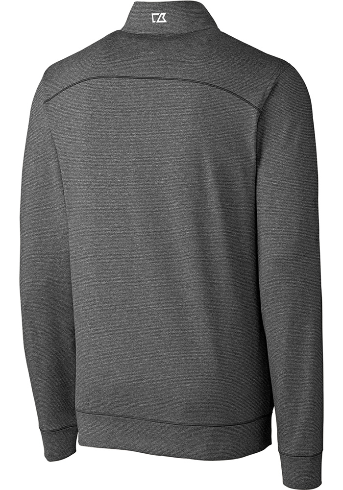Cutter and Buck Wichita State Shockers Mens Grey Shoreline Long Sleeve 1/4 Zip Pullover - Image 2