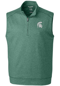 Michigan State Spartans Cutter and Buck Shoreline Sweater Vest - Green